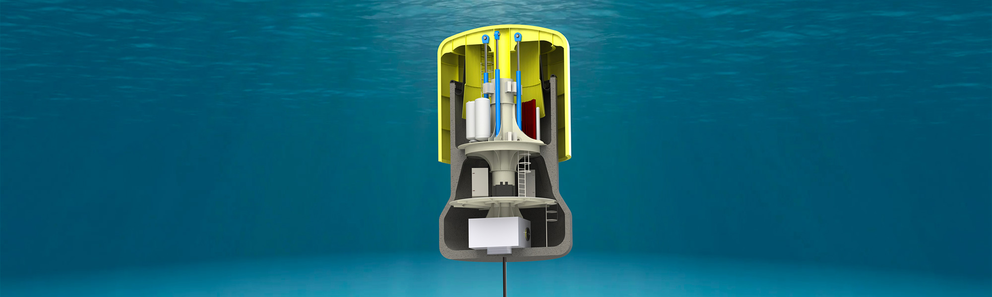 Archimedes waveswing developed by AWS Ocean Energy Ltd